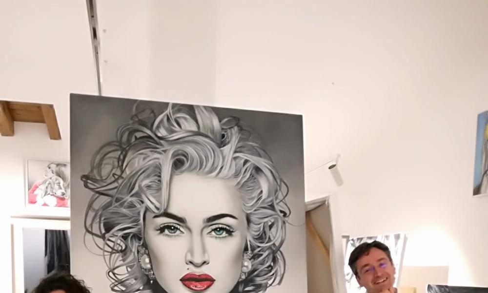 Cinzia Pellin visita in studio