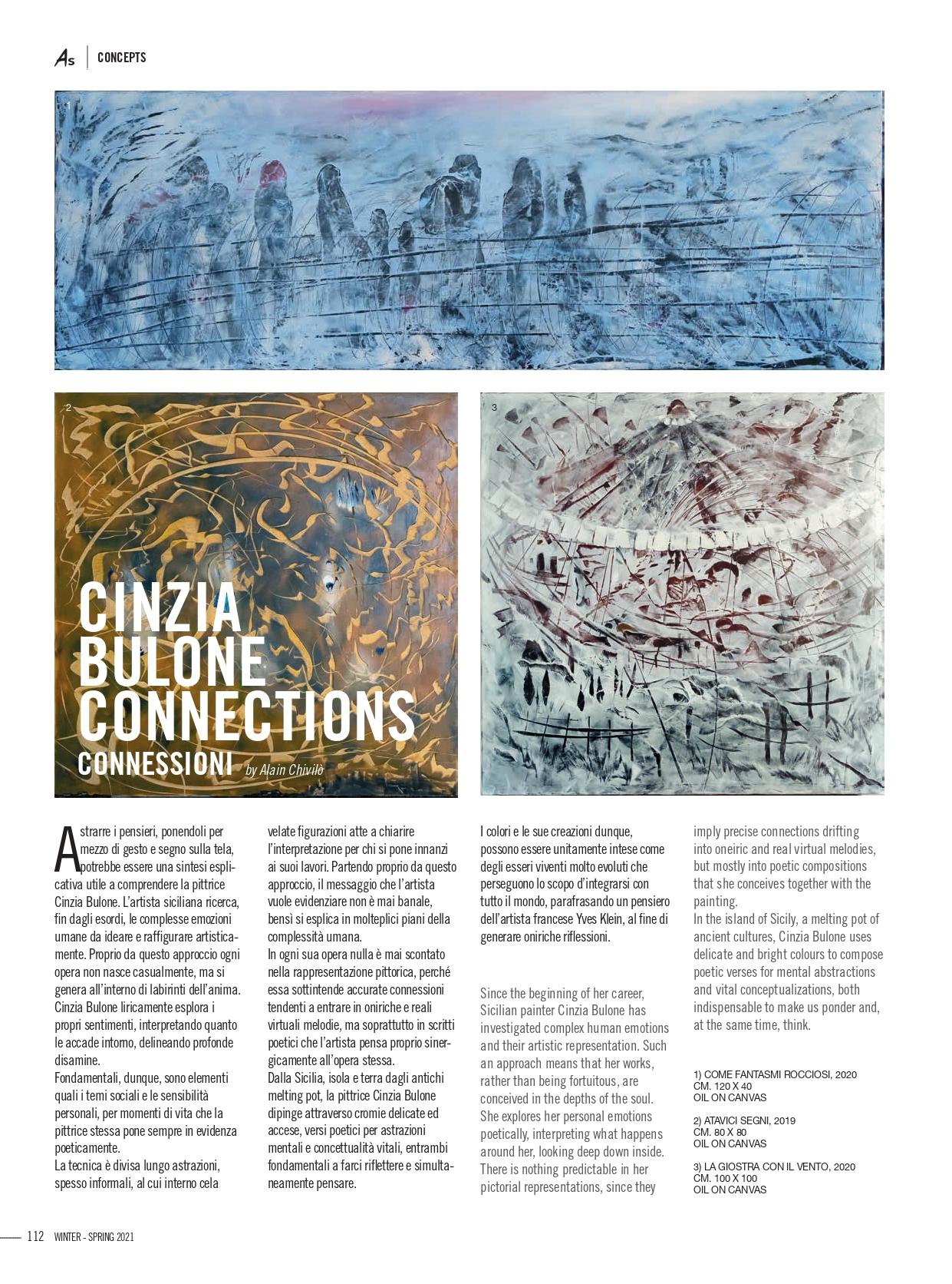 ArtStyle_Connessioni_Cinzia Bulone_Connessioni_by Alain Chivilò_Winter 20_21