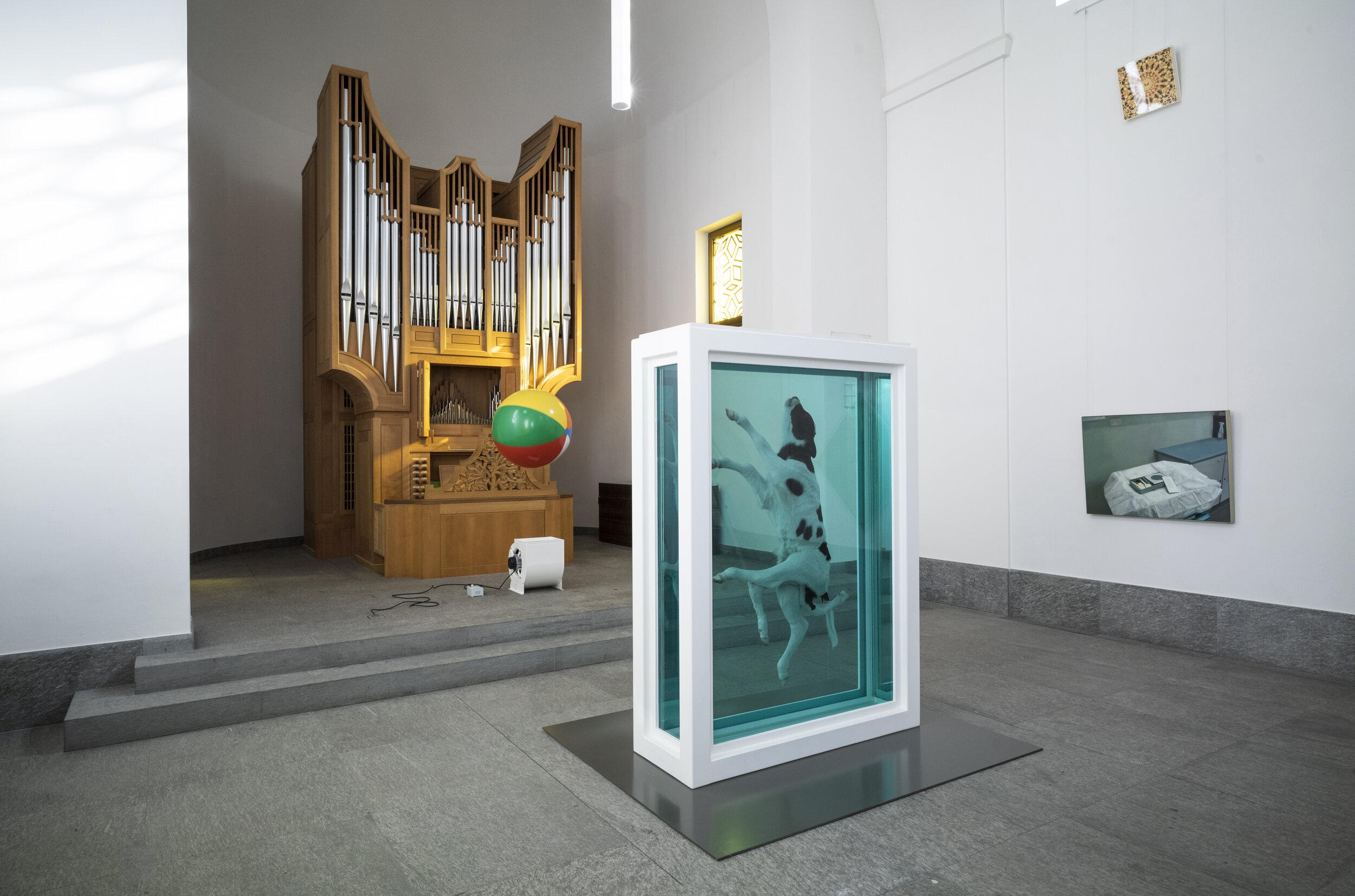 Damien Hirst, Protestant Church, St. Moritz Dorf, 2021, St Moritz (1)