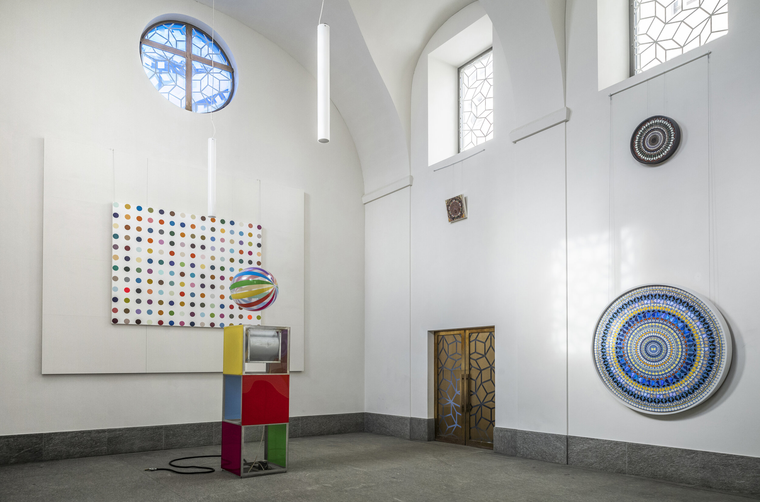 Damien Hirst, Protestant Church, St. Moritz Dorf, 2021, St Moritz (2)
