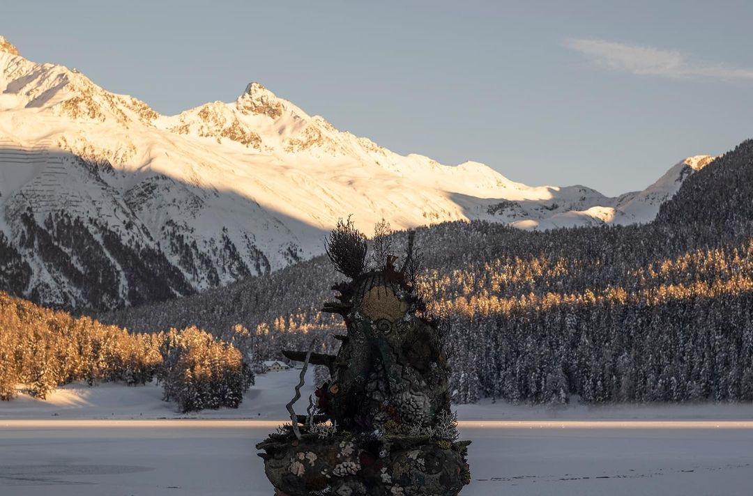 Damien Hirst, The Monk, 2021, St Moritz, Lake (1)