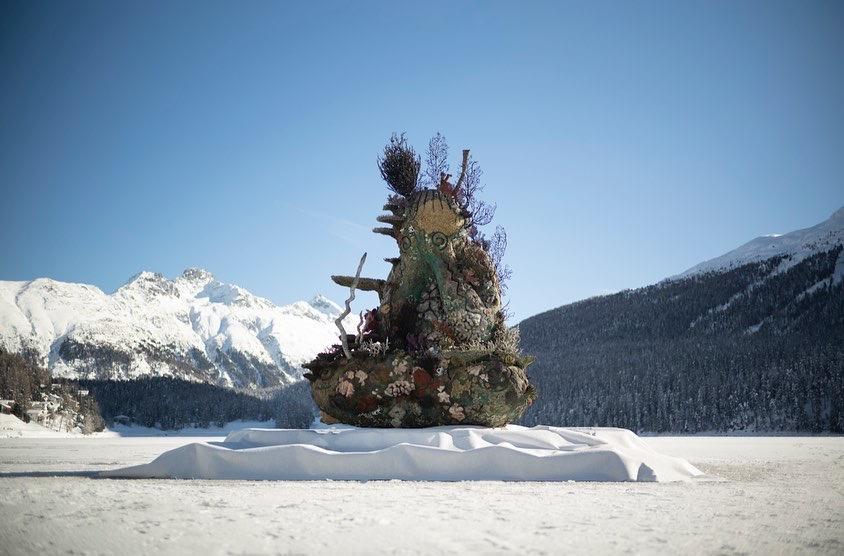 Damien Hirst, The Monk, 2021, St Moritz, Lake (2)