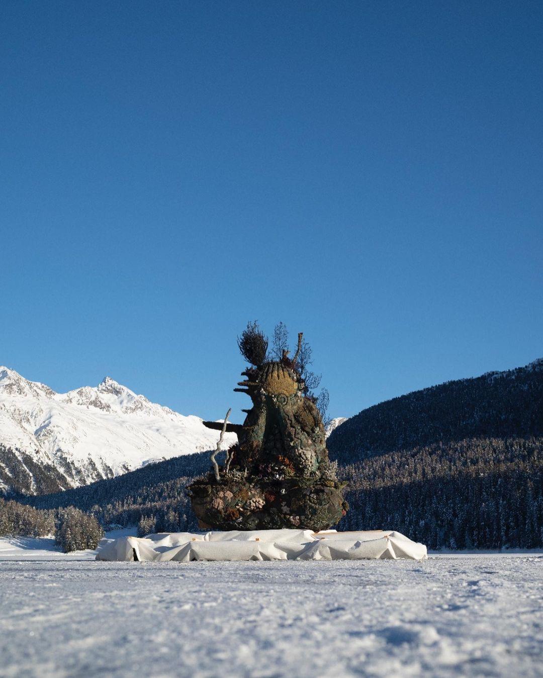 Damien Hirst, The Monk, 2021, St Moritz, Lake (3)