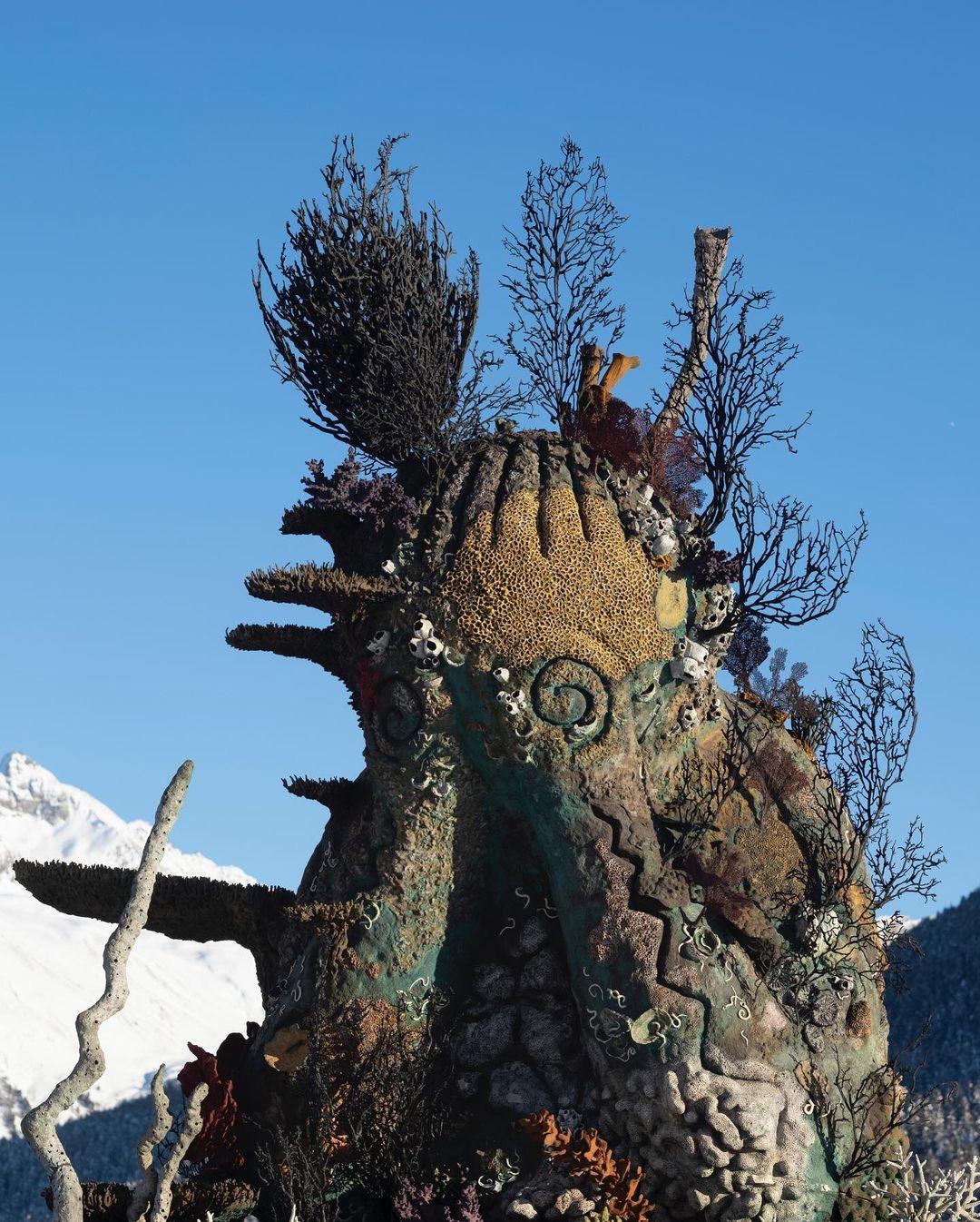 Damien Hirst, The Monk, 2021, St Moritz, Lake (4)