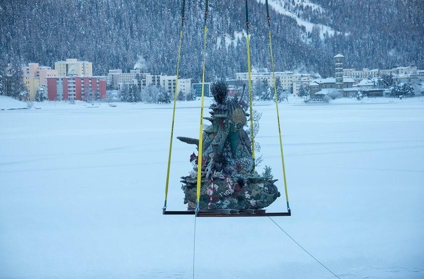 Damien Hirst, The Monk, 2021, St Moritz, Lake (8)