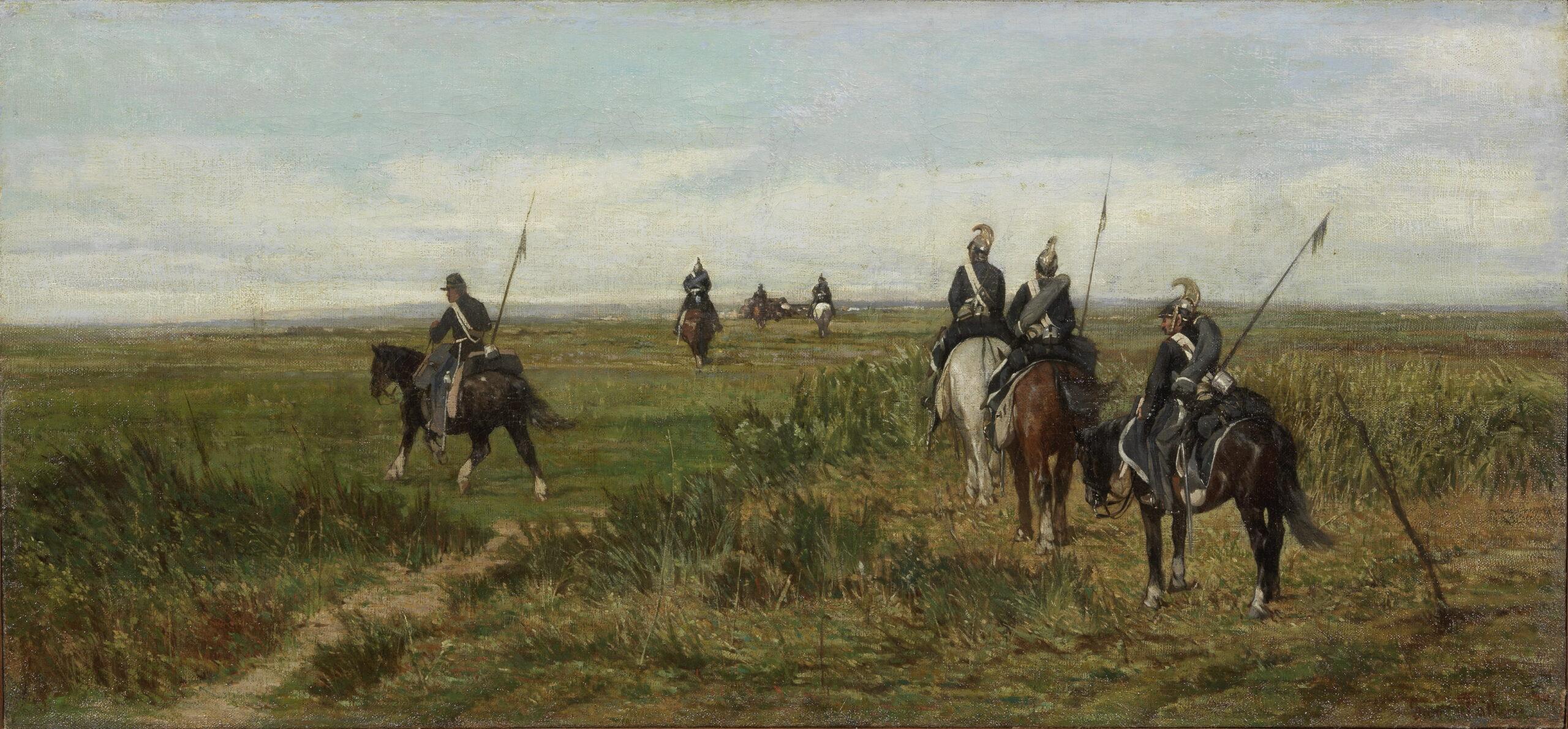 Giovanni Fattori, Avanscoperta, olio su tela 45 x 98,5 cm