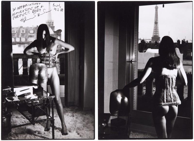 Helmut Newton 'Hommage a Bellmer', Susy Dyson, 55 Quai Voltaire, 1978