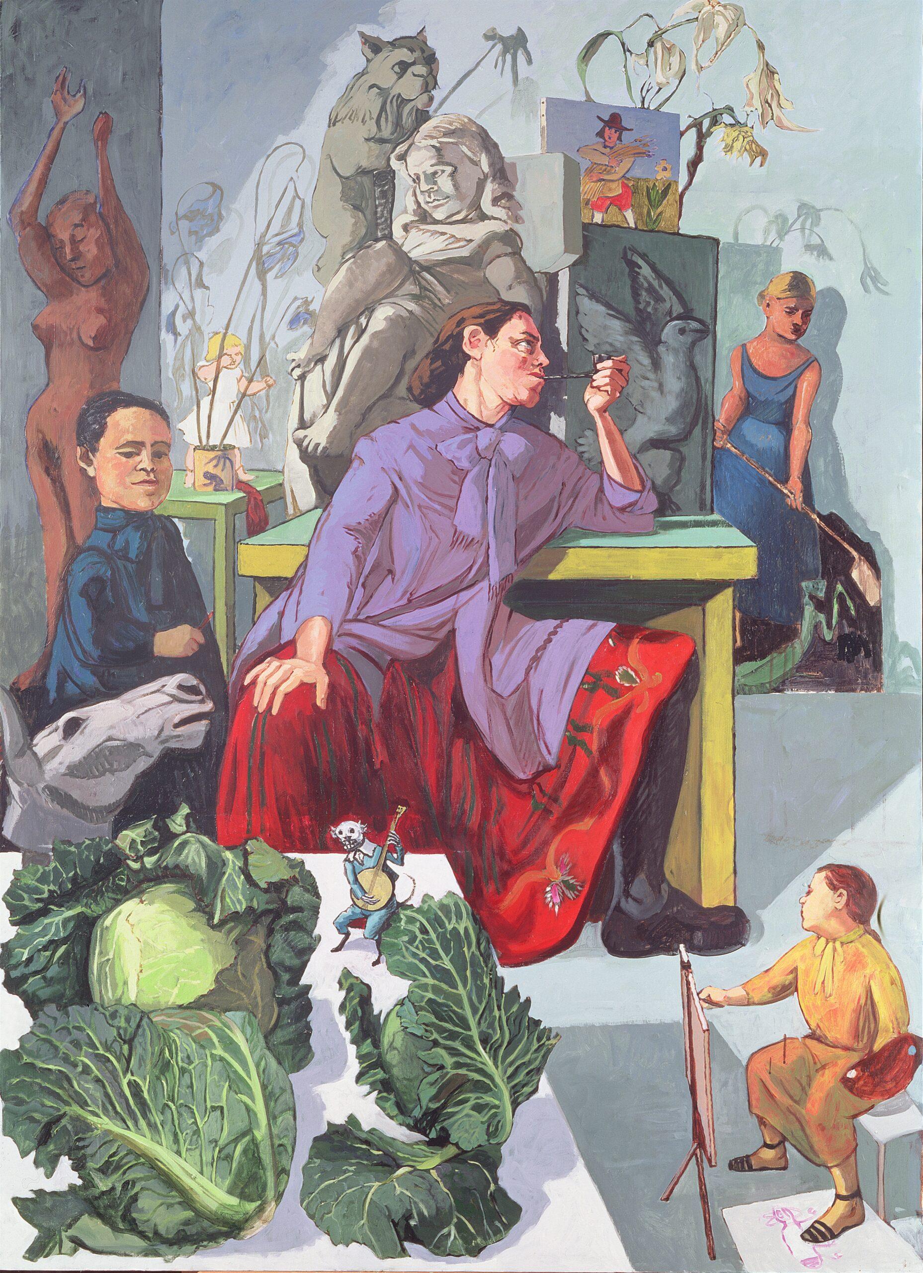 Paula Rego The Artist in Her Studio, 1993, Leeds Museums and Galleries, leeds Art Gallery, U.K.  Bridgeman Images © Paula Rego