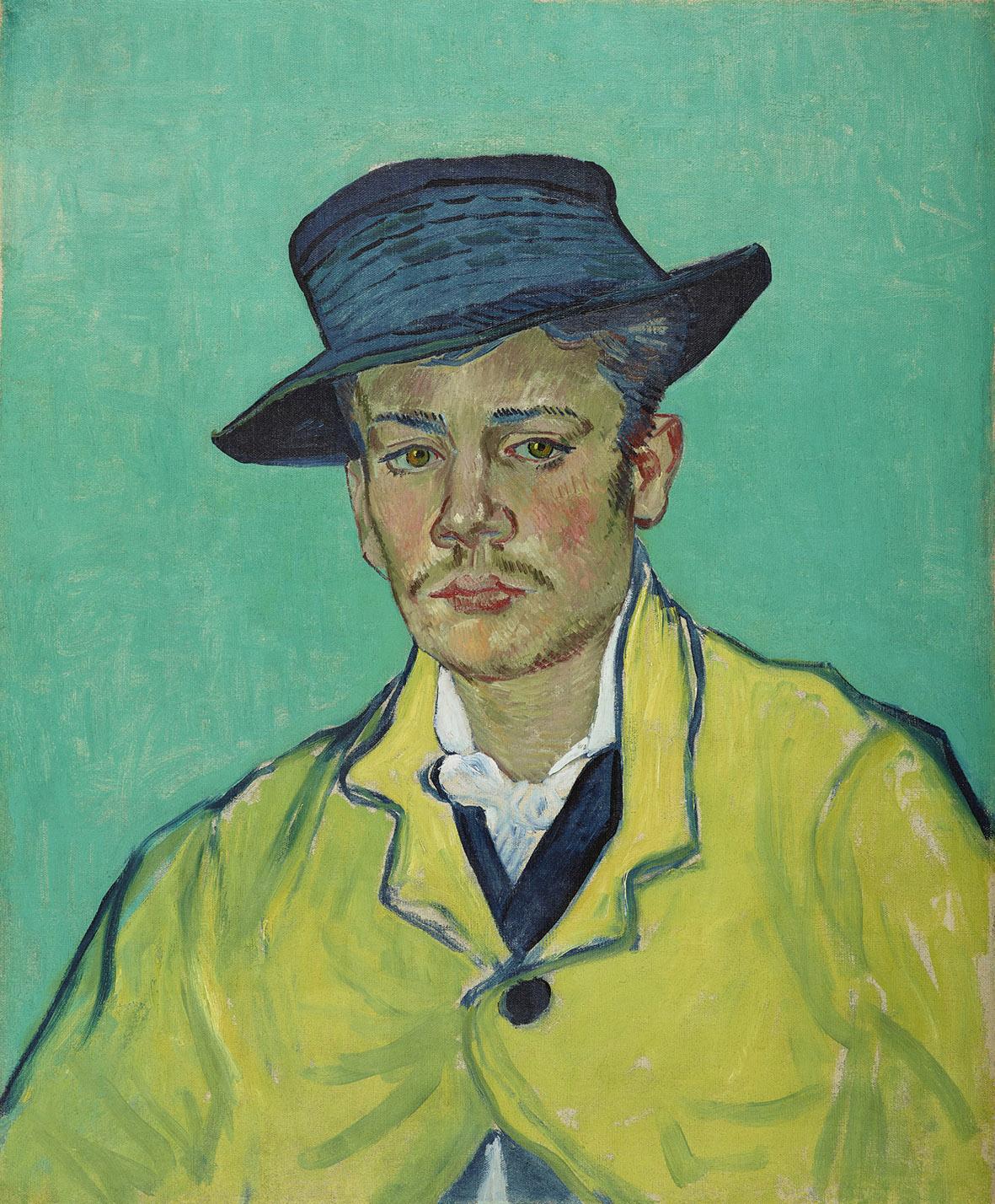 Vincentg van Gogh, Ritratto di Armand Roulin, 1888, olio su tela, cm 65X54.1