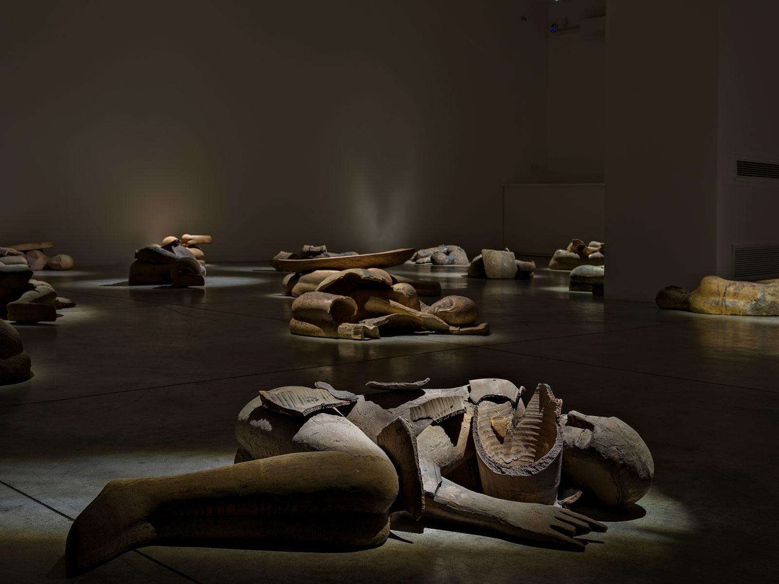 Mimmo Paladino, Installation view © 2021 Cardi Gallery, Photo Carlo Vannini
