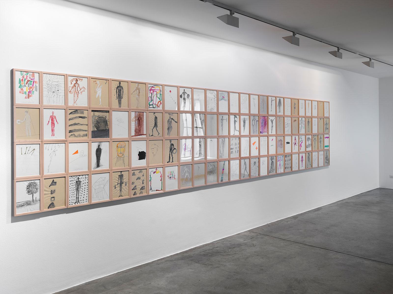 Mimmo Paladino, Installation view © 2021 Cardi Gallery. Photo Carlo Vannini