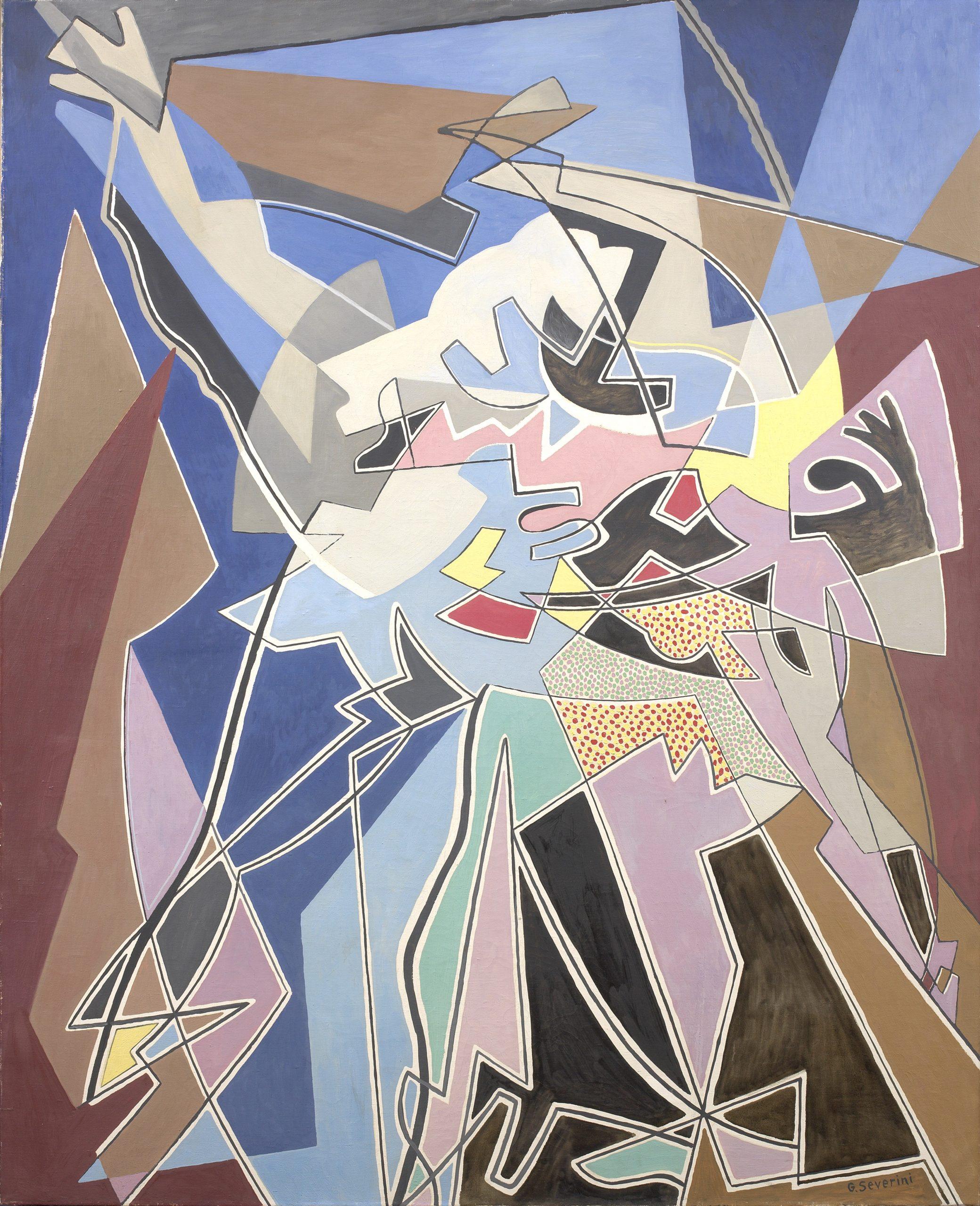 Severini Rythme de danse à l'Opera, 1950, Olio su tela, cm. 161,5x131