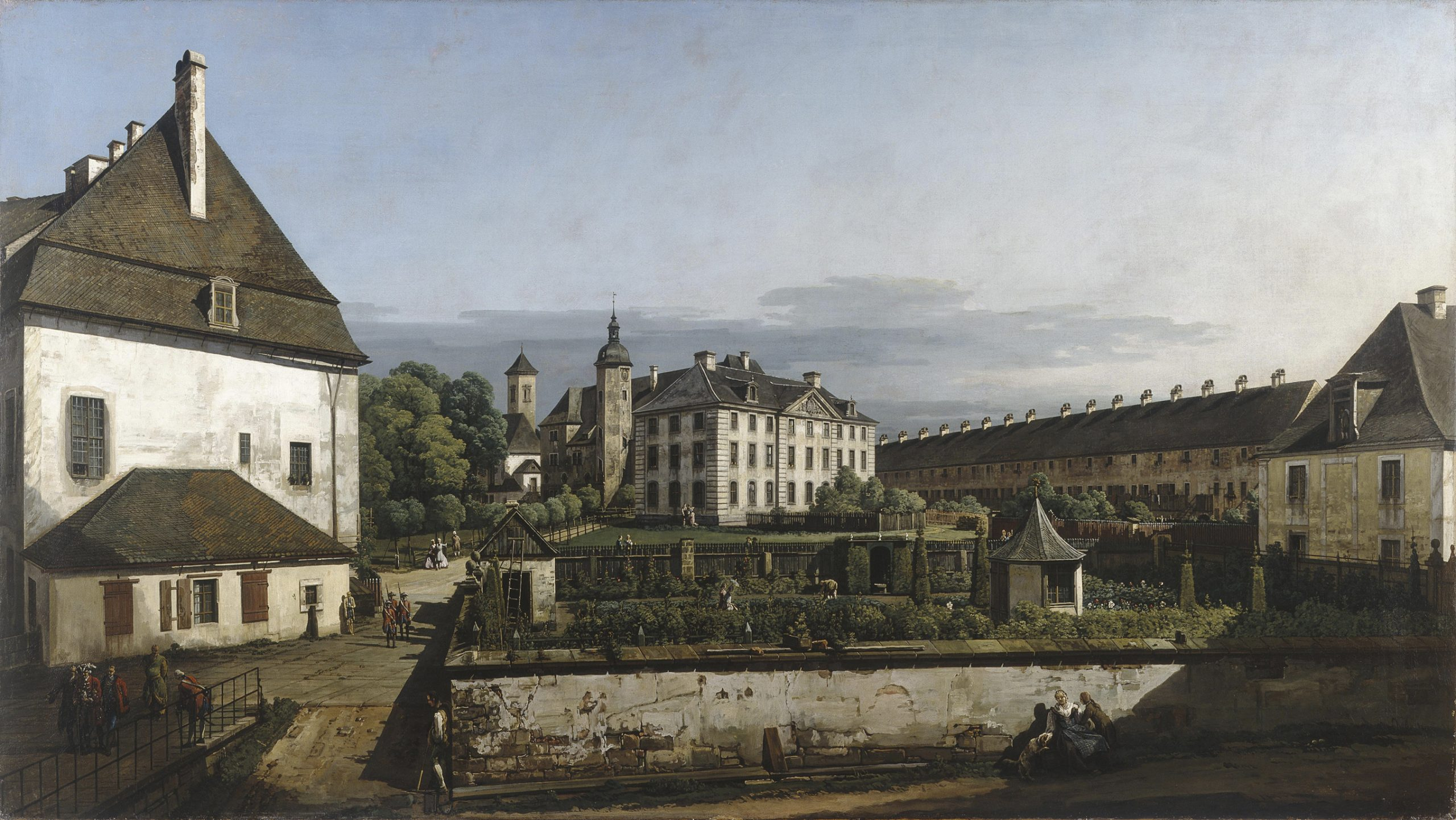 Bernardo Bellotto (1722–1780) The Fortress of Königstein Courtyard with the Brunnenhaus, 1756–8 Oil on canvas, 133.9 × 238 cm, © Manchester Art Gallery, UK  Bridgeman Images