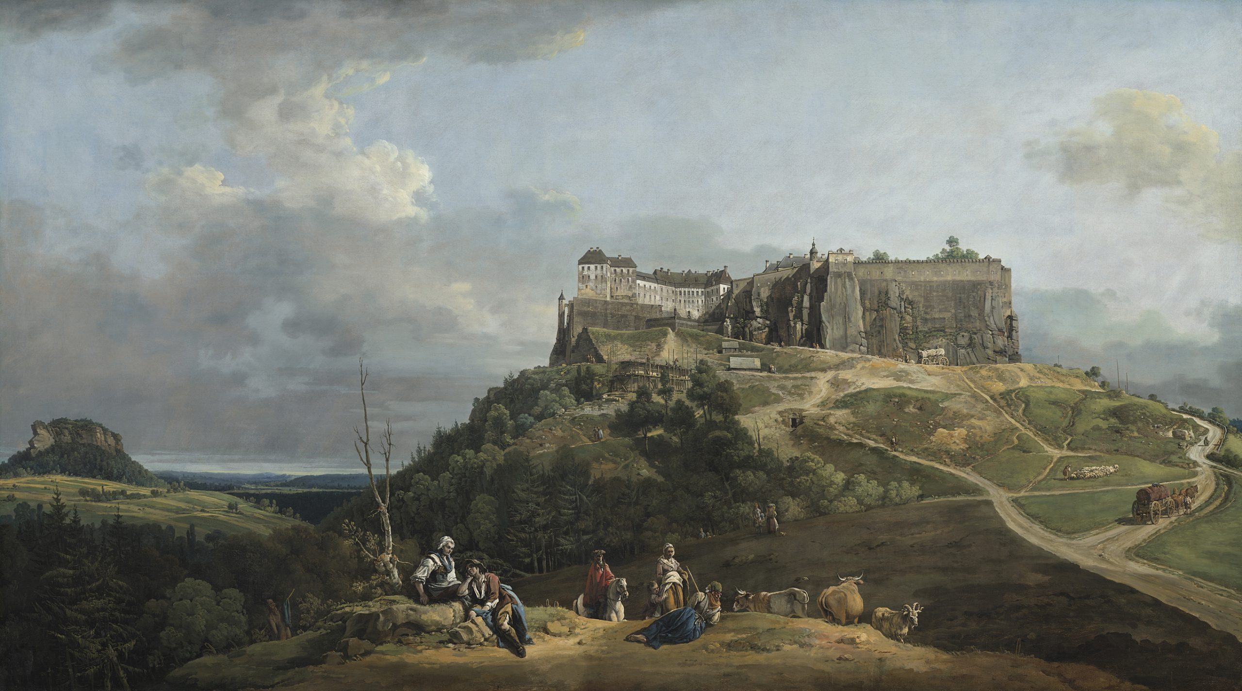 Bernardo Bellotto (1722–1780), The Fortress of Königstein from the North-West, 1756–8, Oil on canvas, 133 × 235.7 cm, National Gallery of Art, Washington, Courtesy NGAW