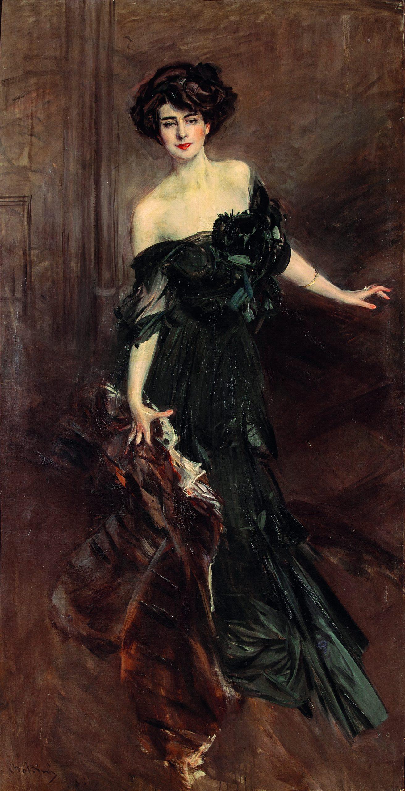 Giovanni Boldini, Mademoiselle De Nemidoff, 1908, Olio su tela, 232x122 cm, Collezione privata