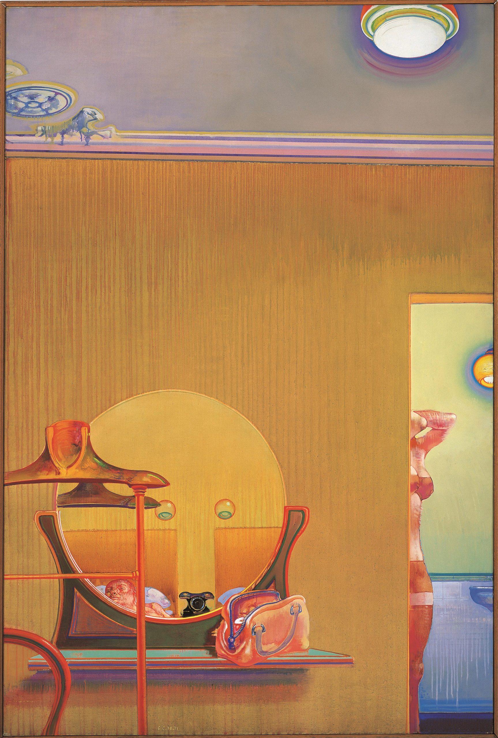 Leonardo Cremonini, Le indiscrezioni di una stanza, 1970-1971, Collezione privata, Parigi-Bologna