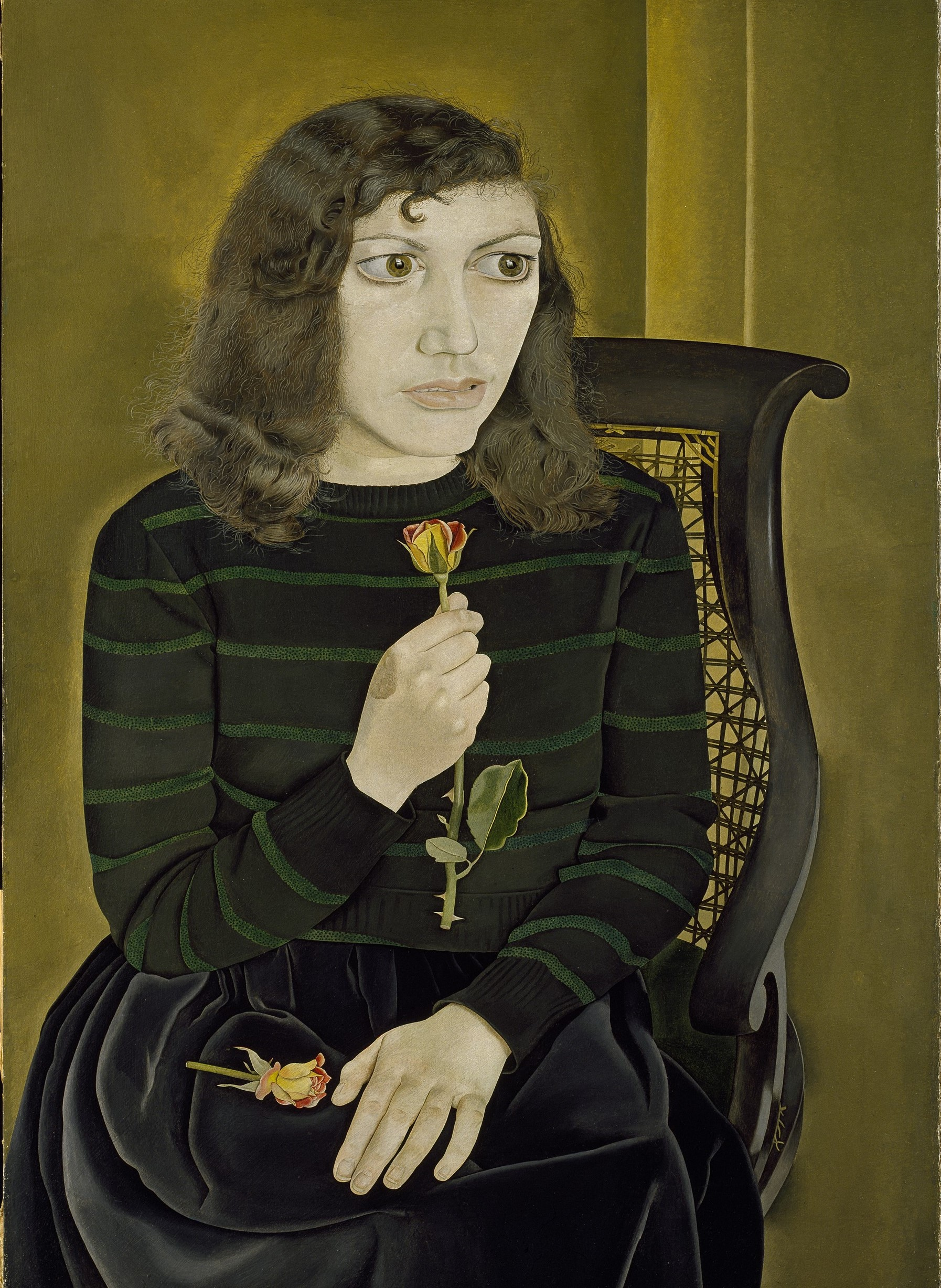 Lucian Freud, Girl with Roses, 1947-8, Courtesy of the British Council Collection. Photo © The British Council, © The Lucian Freud Archive - Bridgeman Images