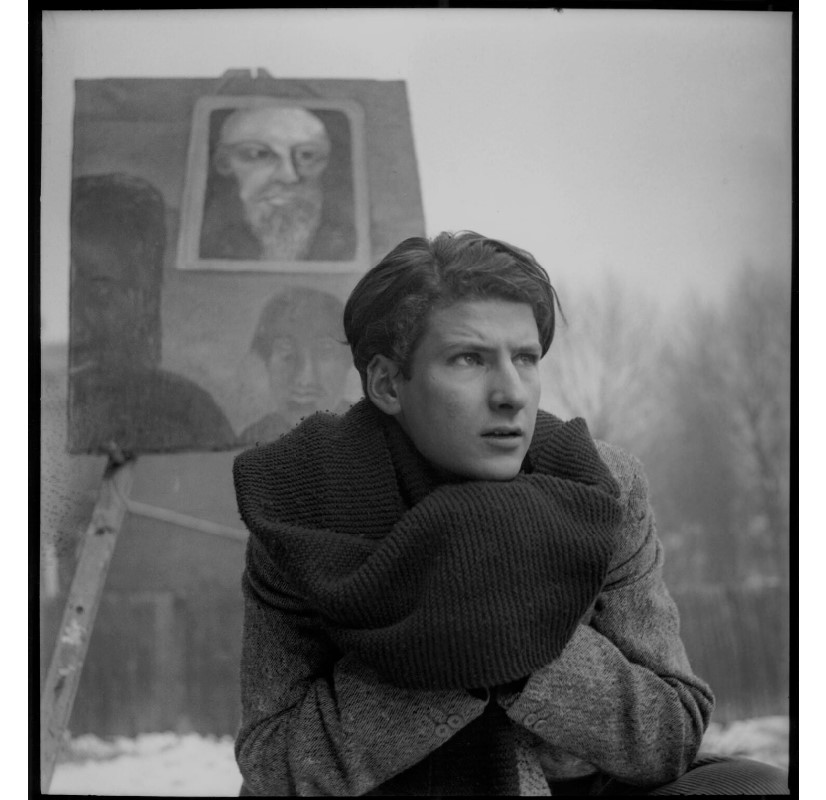 Lucian Freud, by Francis Goodman, 2 14 inch square film negative, circa 1945, Bequeathed by the estate of Francis Goodman, 1989