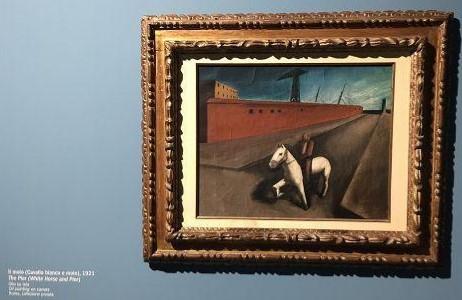 Mario Sironi, Il molo (Cavallo bianco e molo), 1921, olio su tela, 44 x 56 cm, Roma, collezione privata, esposizione