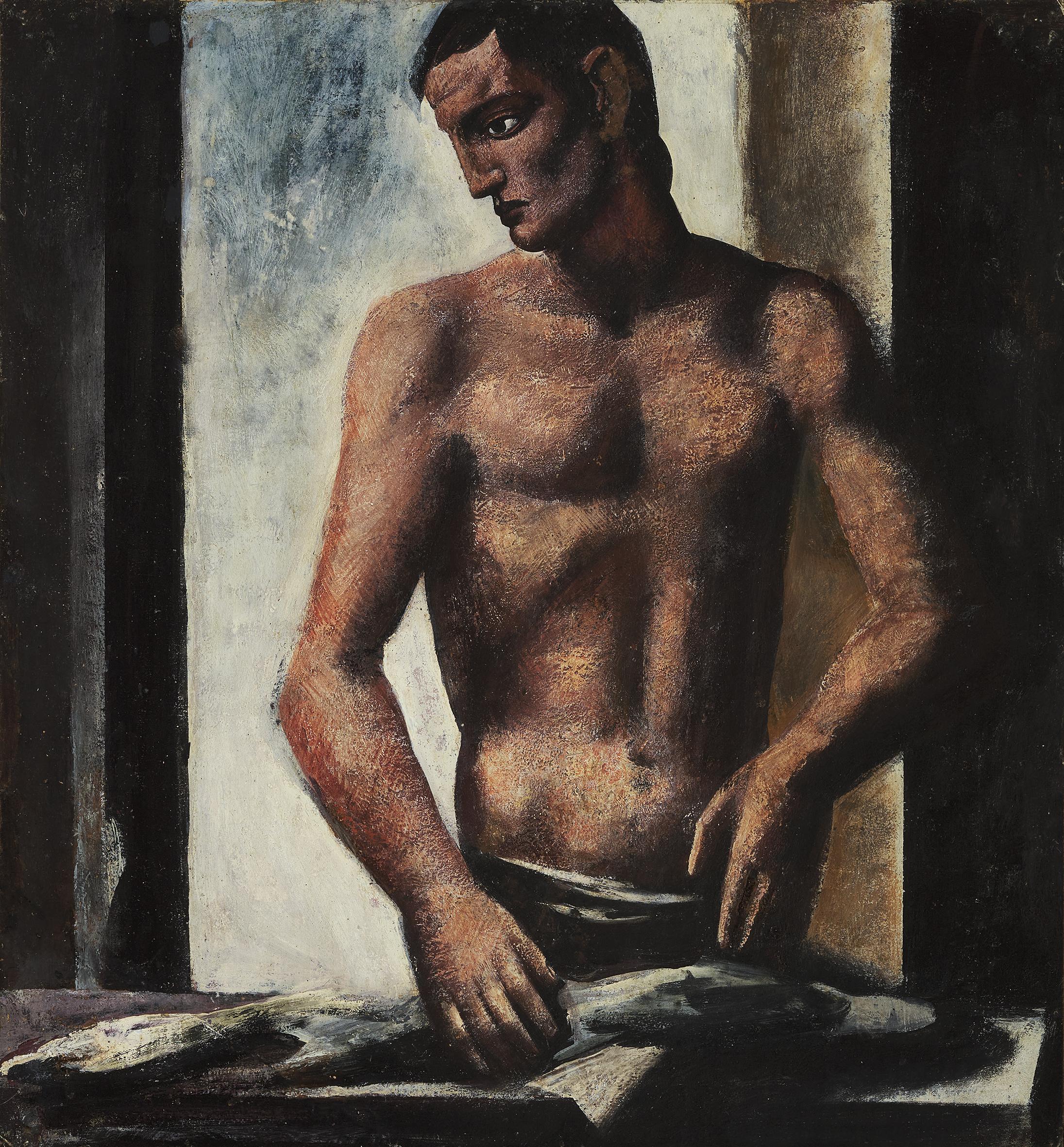Mario Sironi, Il pescivendolo, 1925 - © by SIAE 2021