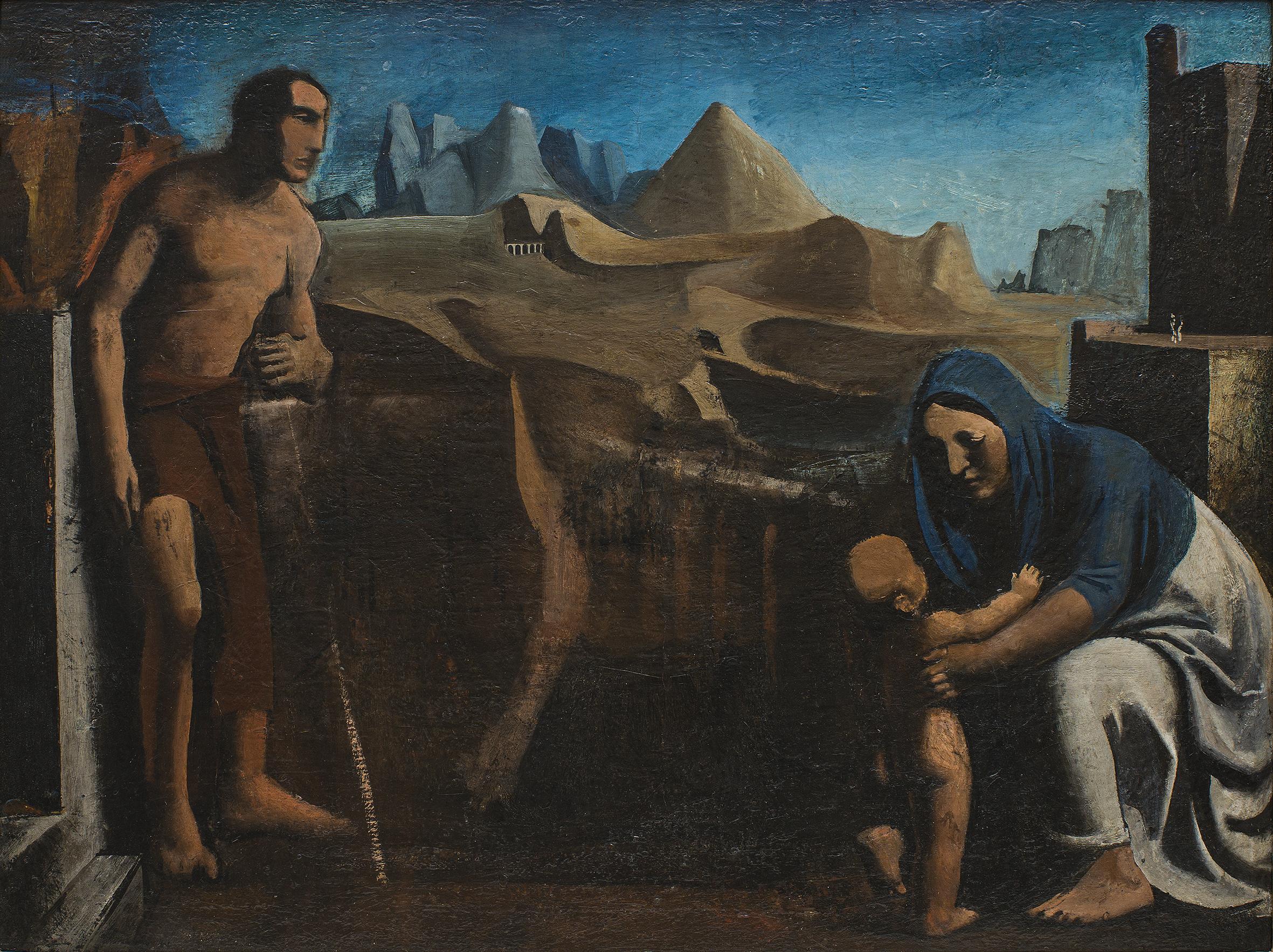 Mario Sironi, La famiglia (La famiglia del pastore), 1927-28 - © by SIAE 2021