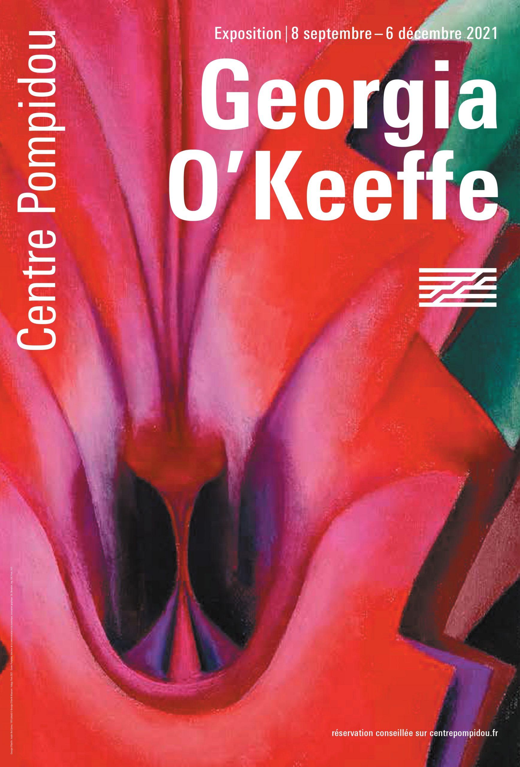 Affiche_Centre Pompidou_O'Keeffe_2021 show
