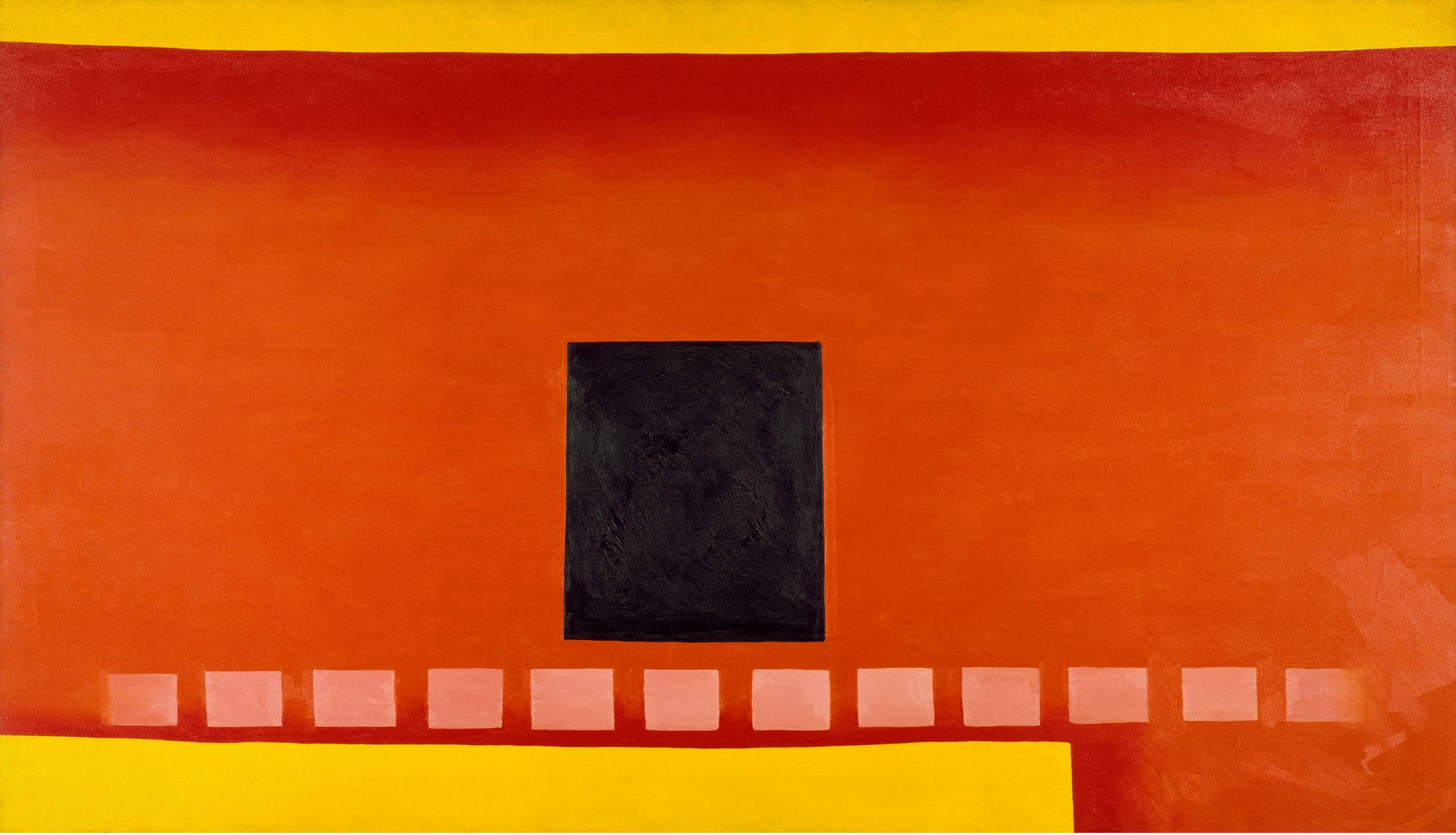 Georgia O'Keeffe Black Door with Red, 1954 Huile sur toile, 121,9 × 213,4 cm Chrysler Museum of Art, Norfolk, Virginie. Bequest of Walter P. Chrysler, Jr.  Image Chrysler Museum of Art, Norfolk, VA  © Georgia O'Keeffe Museum / Adagp, Paris, 2021