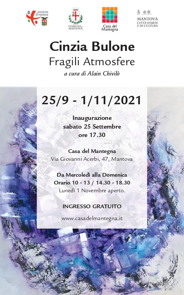 Invito Cartaceo_Fragili Armosfere a cura di Alain Chivilò_Casa del Mantegna 2021