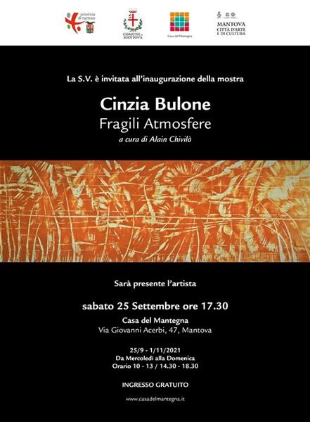 Cinzia Bulone Invitation to Visit