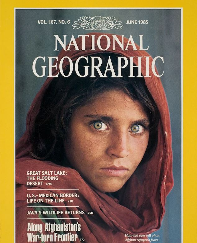 National Geographic Cover, June 1985, Afghan Girl by Steve McCurry