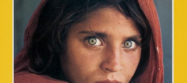 National Geographic Cover, June 1985, Afghan Girl by Steve McCurry_detail