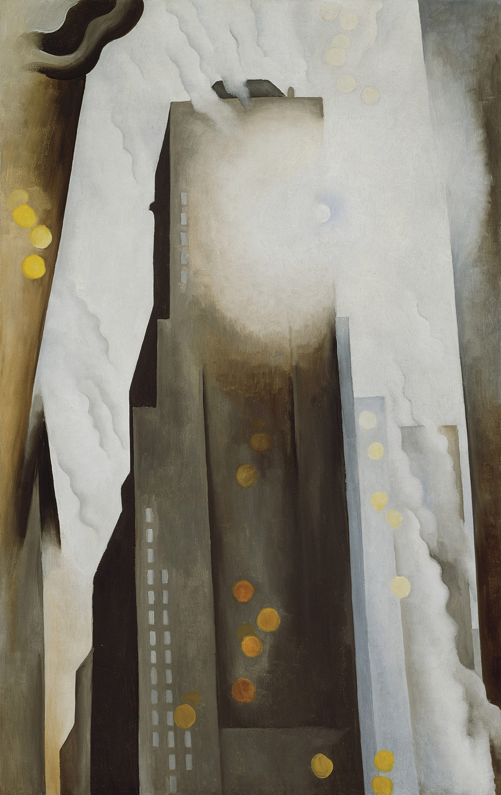 Georgia O'Keeffe,  The Shelton with Sunspots, N.Y., 1926 Huile sur toile, 123,2 × 76,8 cm The Art Institute of Chicago IL, USA © Art Institute of Chicago /Gift of Leigh B. Block/Bridgeman Images © Georgia O'Keeffe Museum / Adagp, Paris, 2021