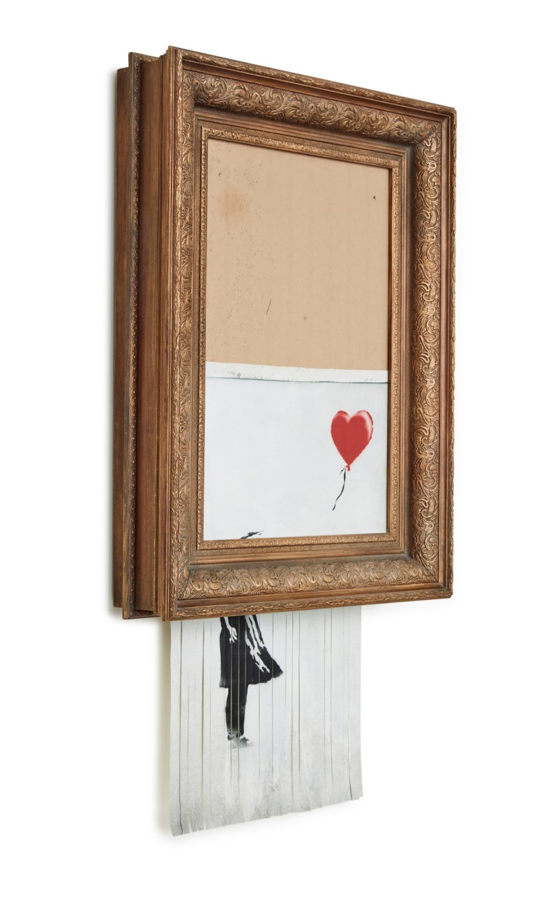 Banksy, Love is in the Bin, Sotheby's 2021, London, a
