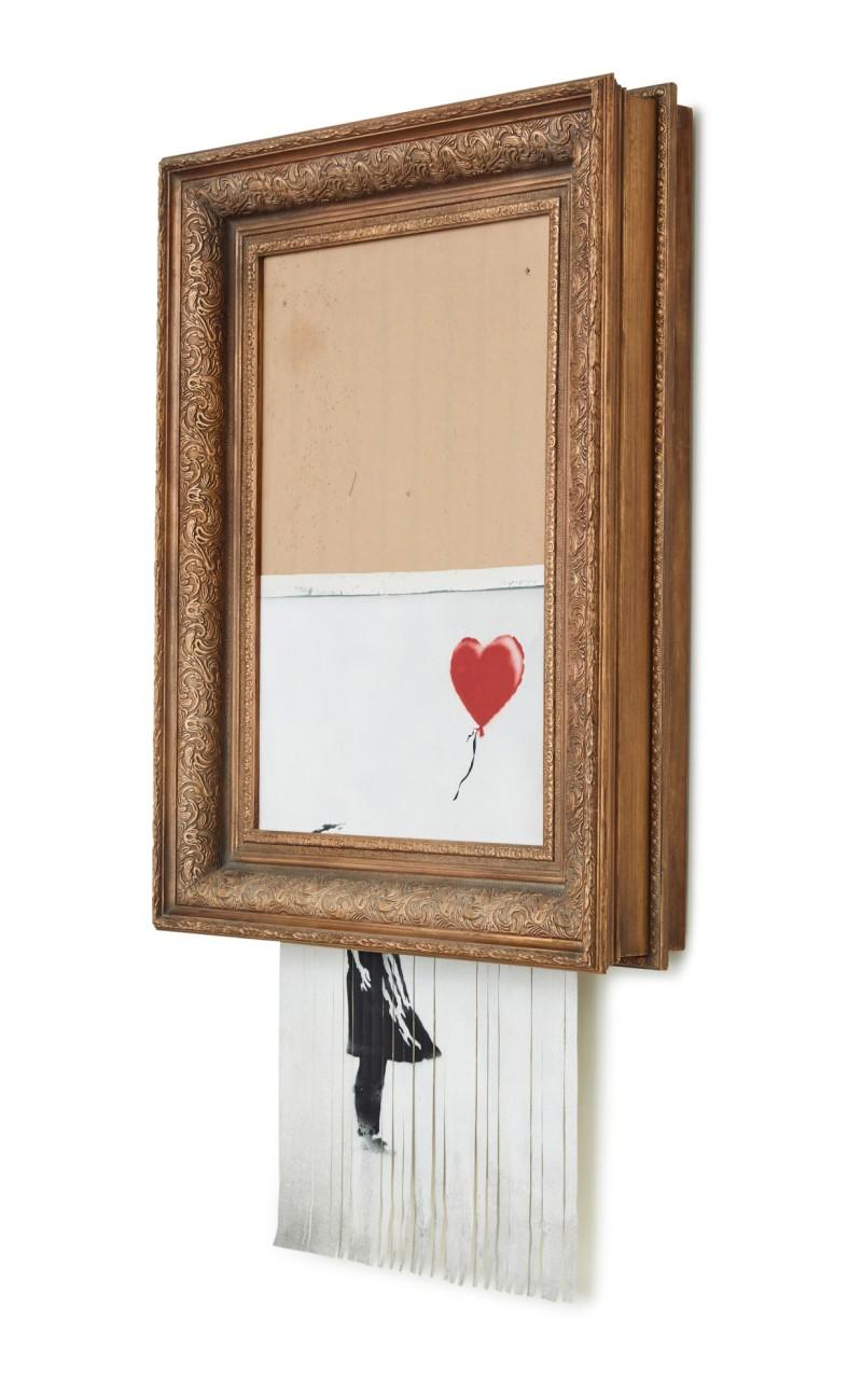 Banksy, Love is in the Bin, Sotheby's 2021, London, b