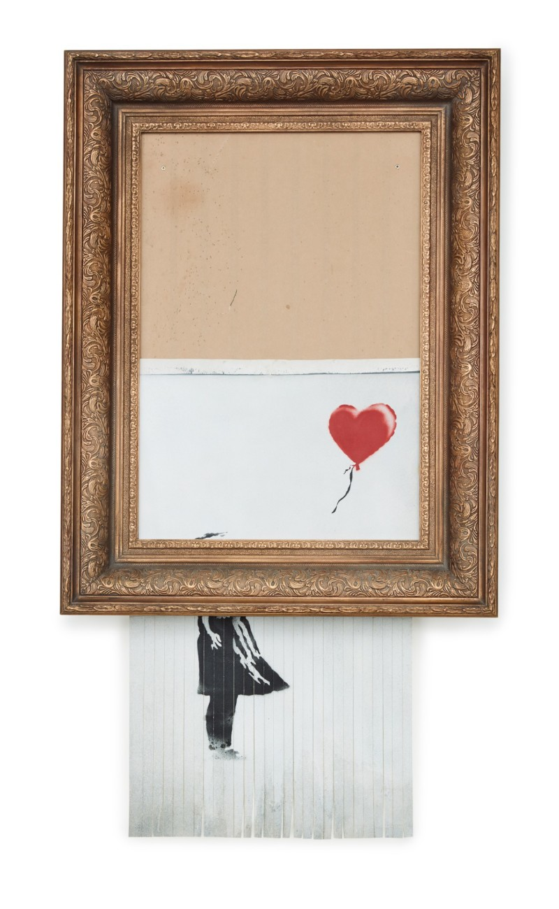 Banksy, Love is in the Bin, Sotheby's 2021, London