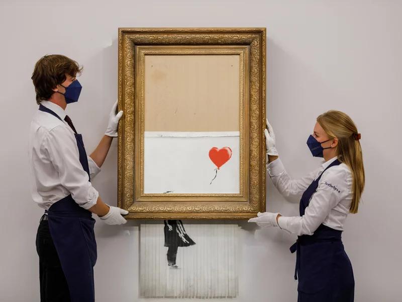 Banksy, Love is in the Bin, Sotheby's 2021