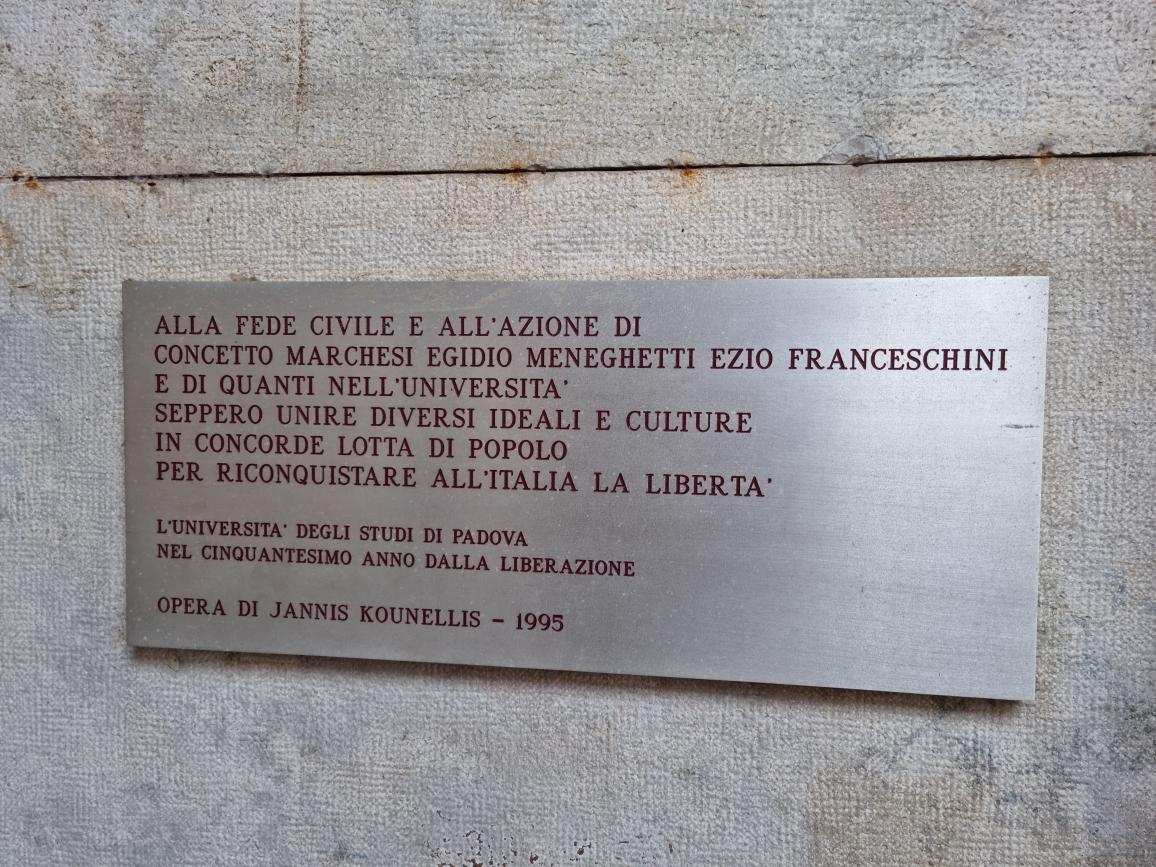 Jannis Kounellis_2021_Resistenza e Liberazione_Padova_Palazzo Bo (4)
